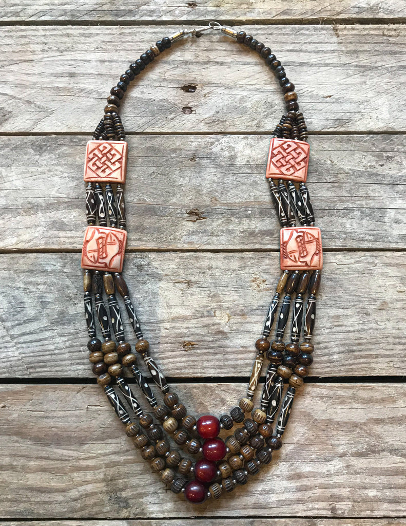 Chilled Out Tibetan Handmade Multi Layers Bead  Necklace