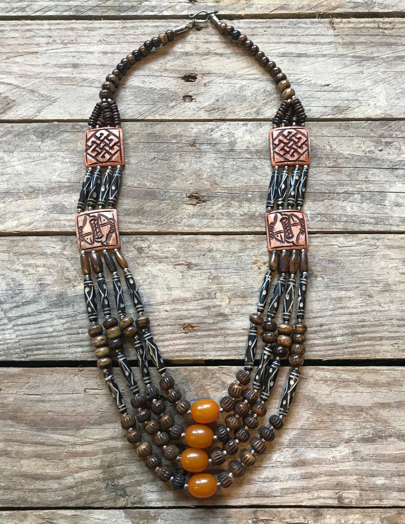 Positive Vibes Tibetan Handmade Multi Layers Bead  Necklace