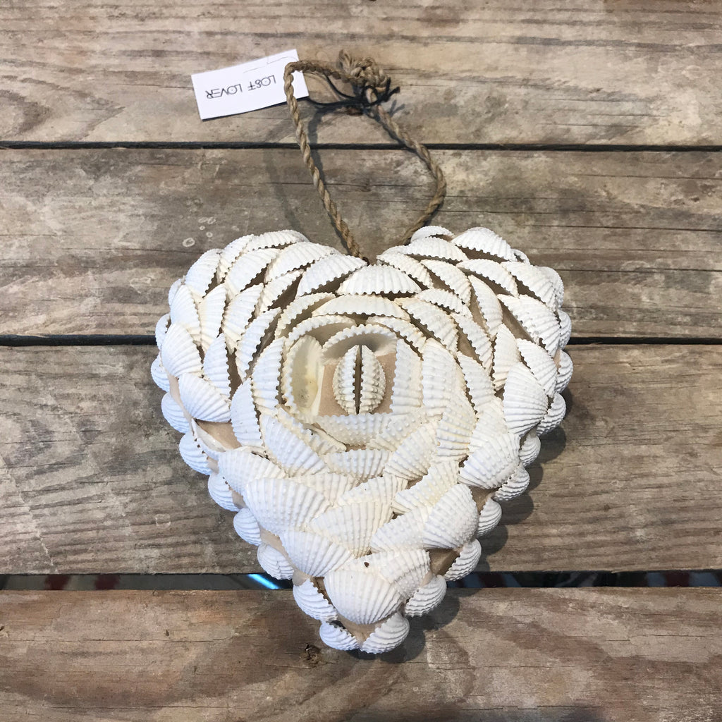 Beautiful Handmade Cowrie Shell Full Heart Hanging