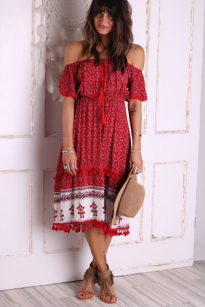 All Yours Midi Tassel Dress
