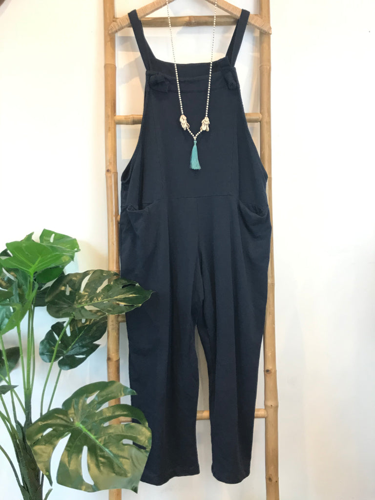Aura Bay Relaxed Jersey Cotton Dungarees