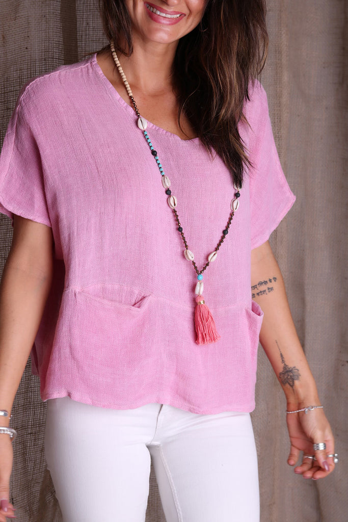 Feel The Love Linen Top