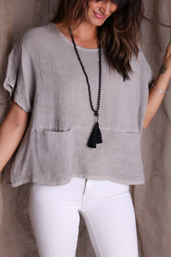 Keep It Simple Linen Top