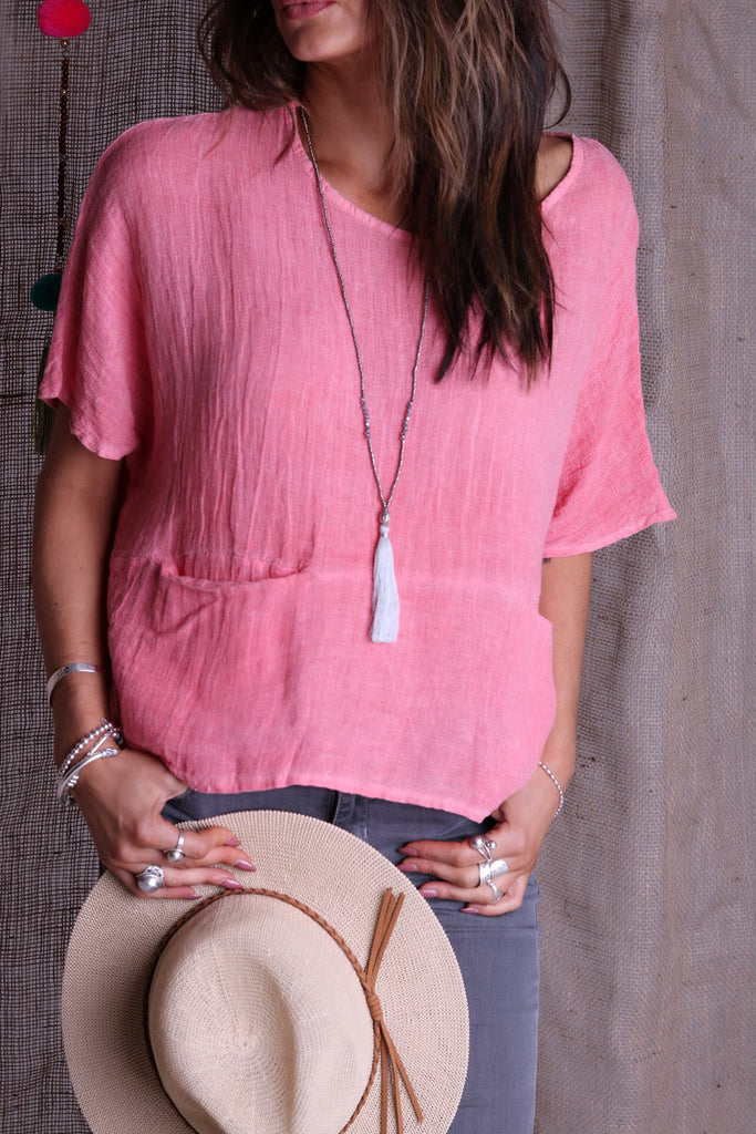 Life Happy Linen Top