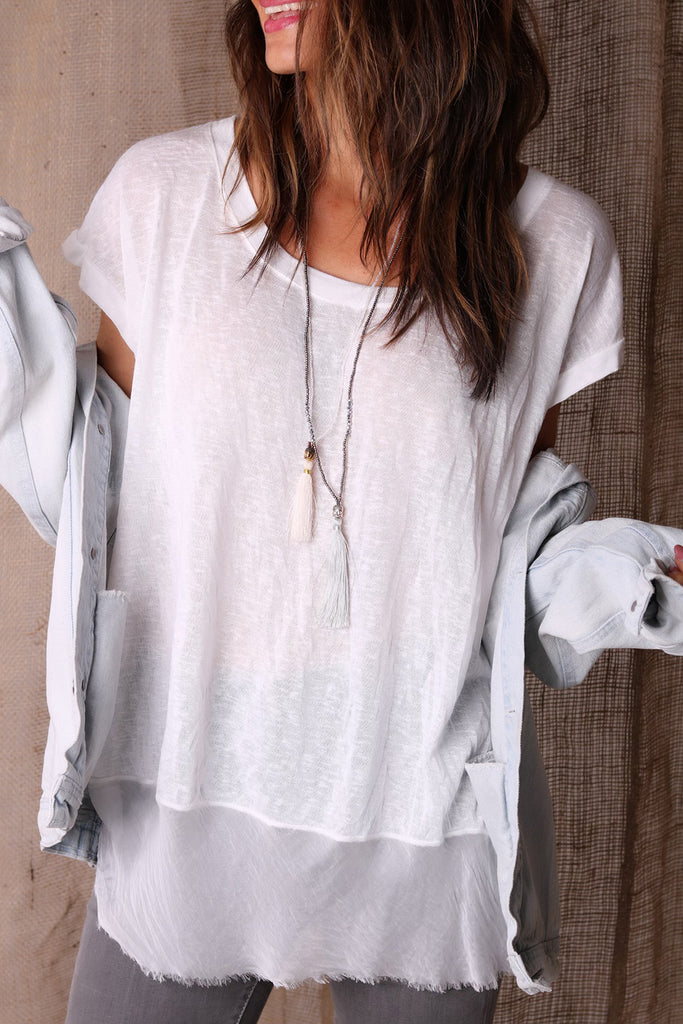 East Side Casual Linen Tee