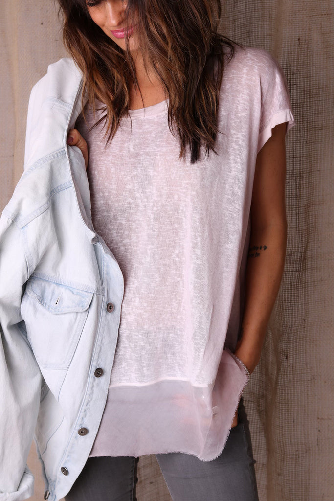 Pretty For You Casual Linen Tee