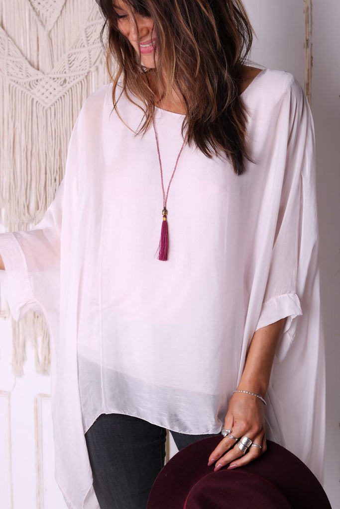 Calming Influence 100% Italian Silk Top