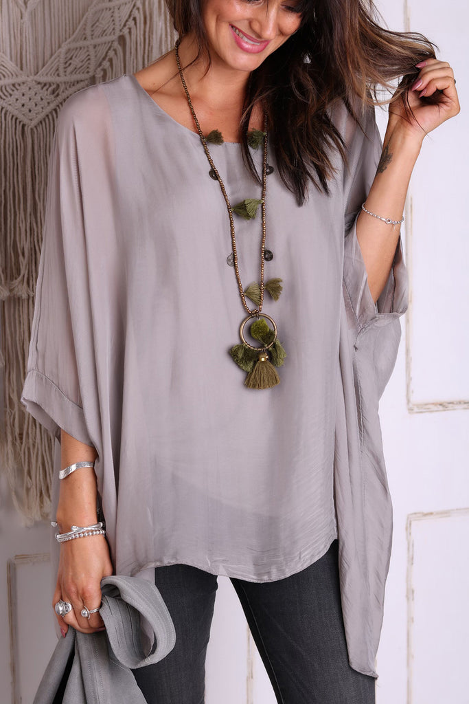 In Your Arms 100% Italian Silk Top