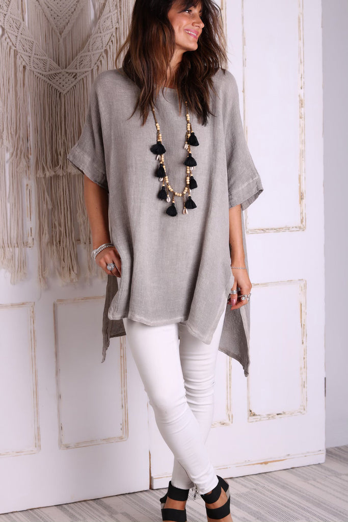 Fly Away Long Linen Top