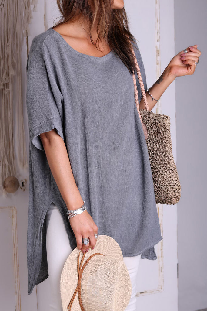 Starry Night Longer Length Linen Top
