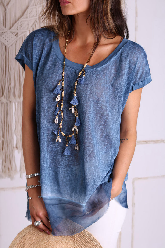 Peace And Love Casual Linen Tee
