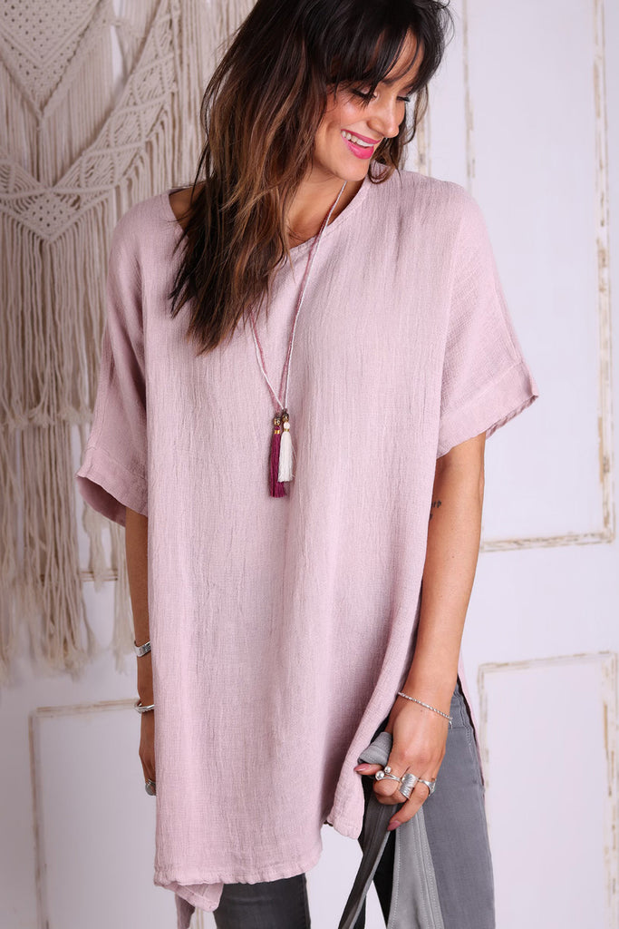 Baby Girl Long Linen Top