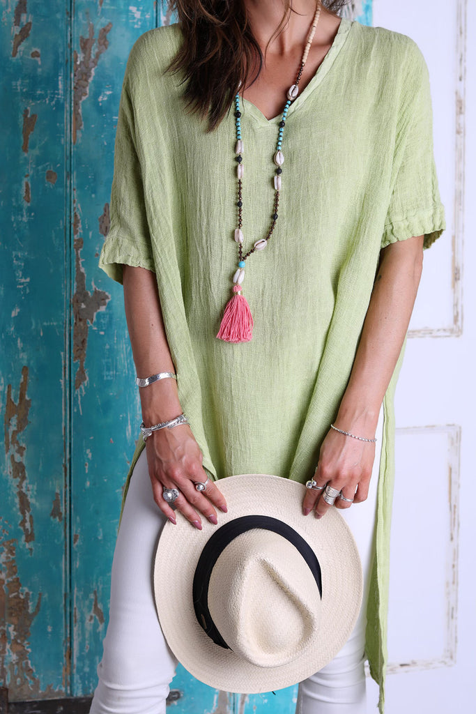 Wanderlust Long Linen Top