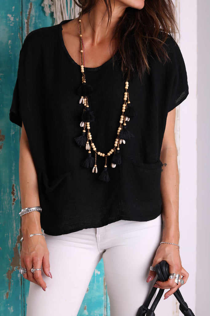 Places To Go Linen Top
