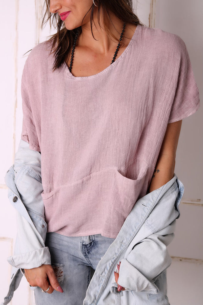Sweet Melody Linen Top