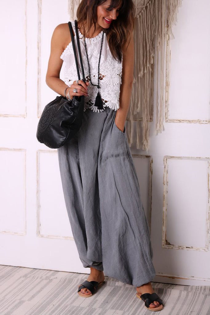 Love And Beyond Pure Linen Parachute Pants