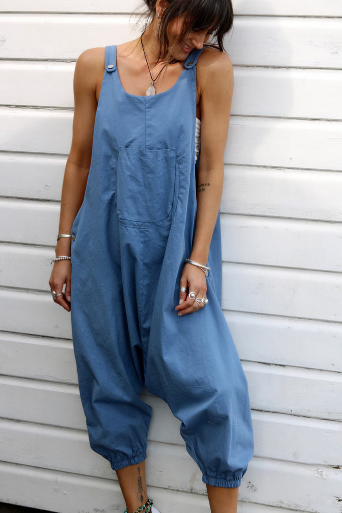 Feel The Heat Harem Drop Soft And Slouchy Dungarees