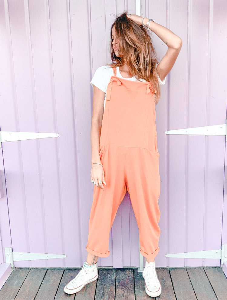 Turn It Up Coldwash Jersey Cotton Dungarees