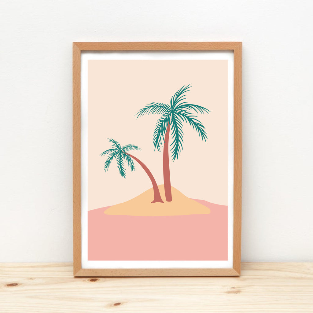 Sunday Palms Art Print