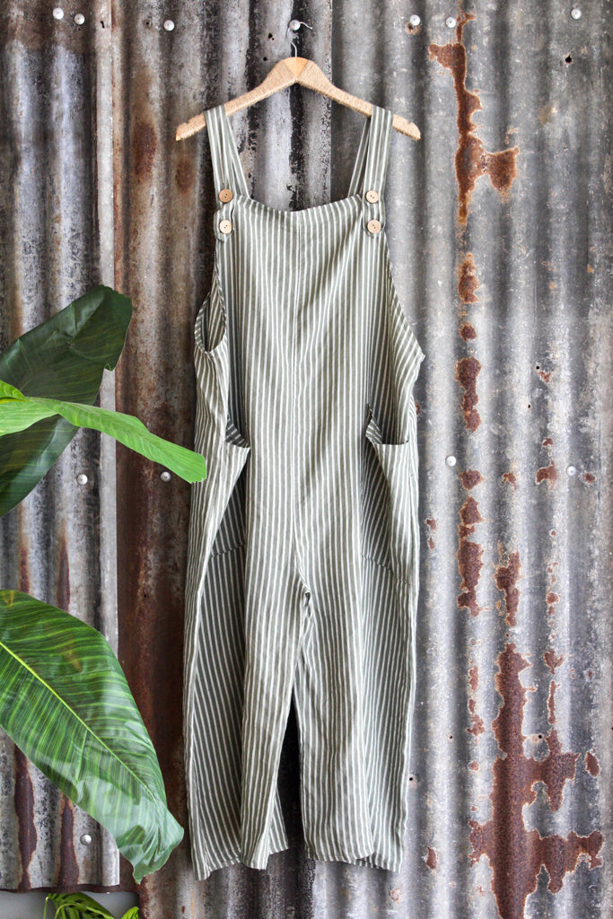 Creekside 100% Pure Linen Dungarees