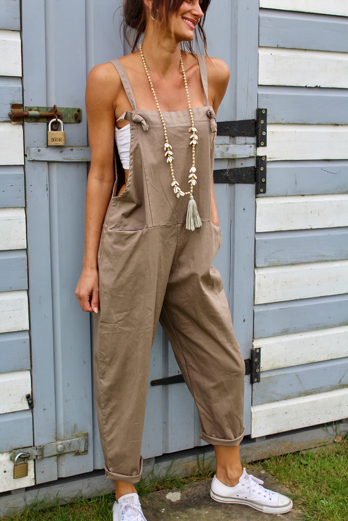 Rumours Soft And Slouchy Cotton Tie Up Dungarees
