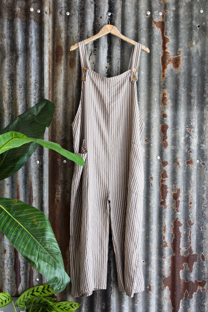 Second Base 100% Pure Linen Dungarees