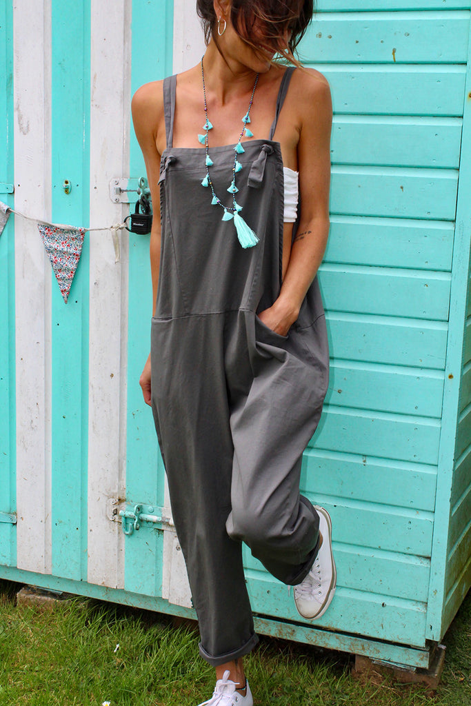 Current Obsession Soft And Slouchy Cotton Dungarees