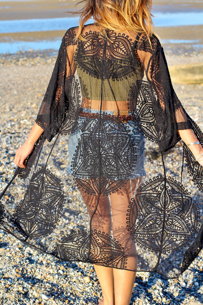Keep Your Cool Longline Lace Kimono