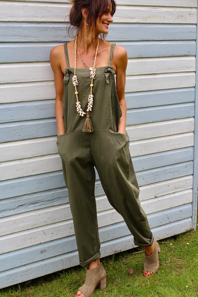 Loveland Soft And Slouchy Cotton Tie Dungarees