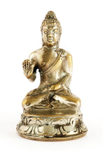 Load image into Gallery viewer, Silver Buddha Statue Trio