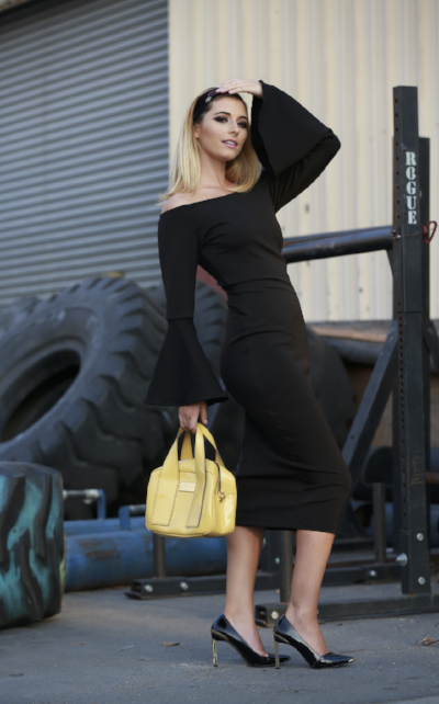 VIVA_ VBE BLACK PENCIL DRESS