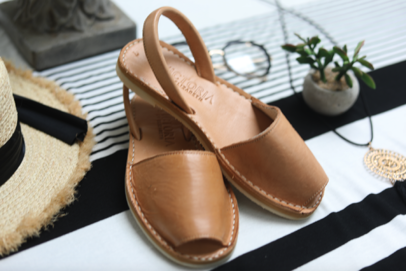 VICTORIA DULCE VITA LEATHER SANDALS