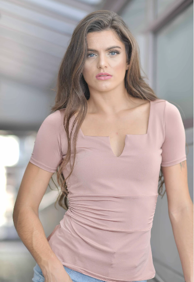 CARLYN BLOUSE NUDE  COLOR