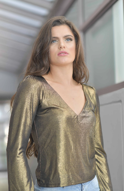 SHARLYN GOLD BLOUSE