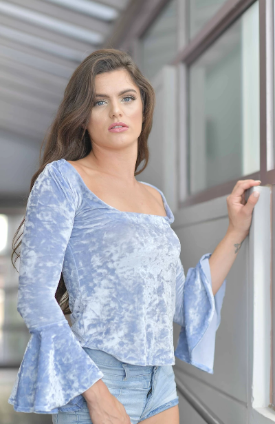 GAVY BLUE LONG TOP
