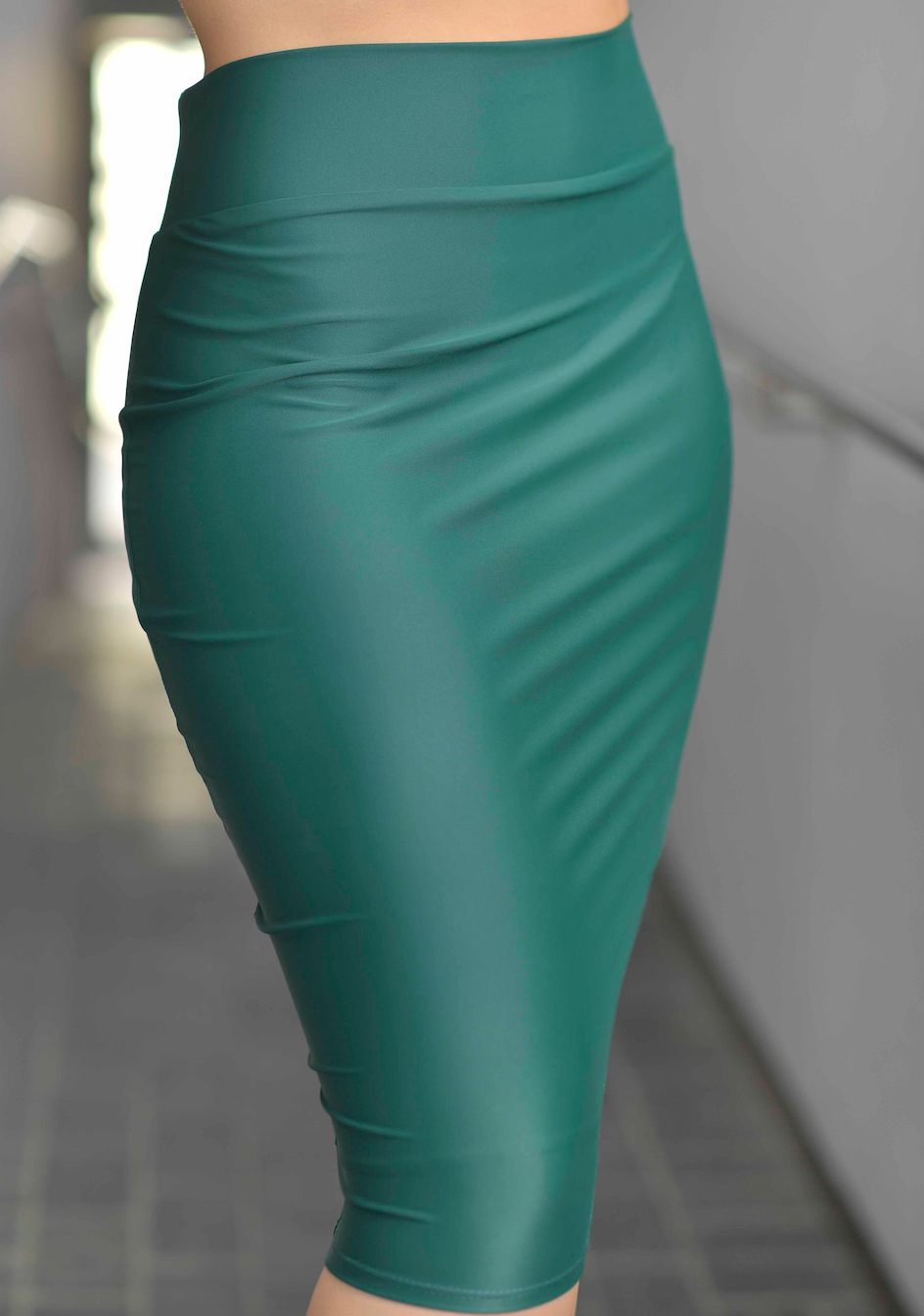 GIANA  SEA GREEN PENCIL SKIRT