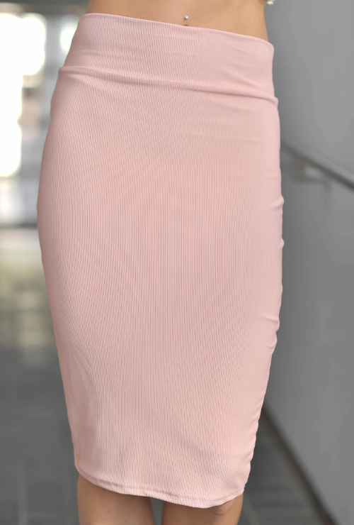 SANDY PINK PENCIL SKIRT