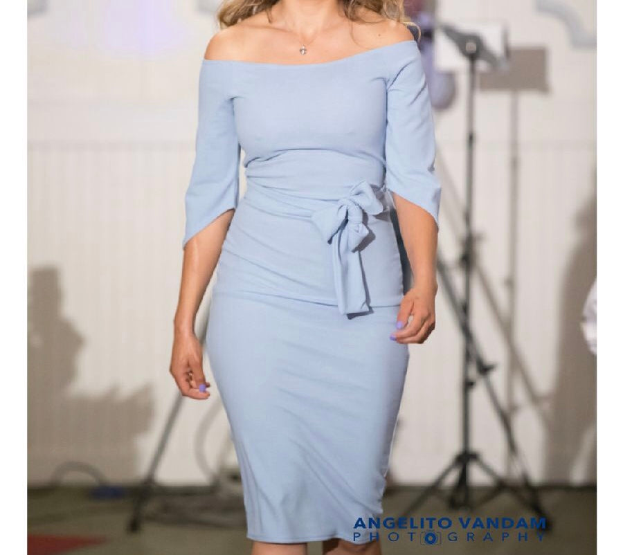 ADA SKY BLUE PENCIL DRESS