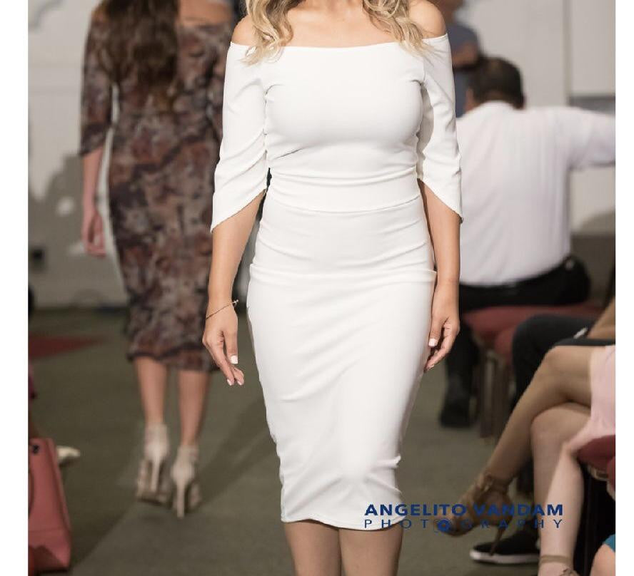 ADA WHITE PENCIL DRESS