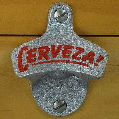 Cerveza! Starr X Wall Mount Stationary Bottle Opener