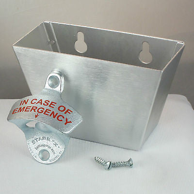 In Case of Emergency Bottle Opener/ Cap Catcher Set