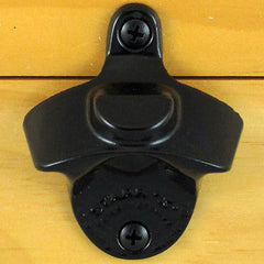Black Plain BOTTLE CAP MOUNT Starr X Wall Mount Bottle Opener - Powder Coated
