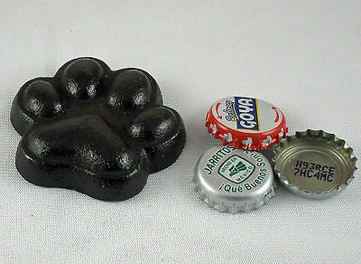 Black Dog Paw Cast Iron Bottle Opener/ Paperweight