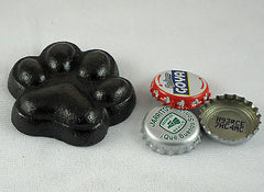 Black Dog Paw Cast Iron Bottle Opener/ Paperweight, Old Fashioned Painted Look