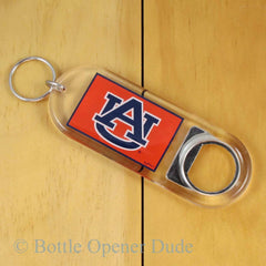 Auburn Tigers Keychain Bottle Opener Lucite NCAA Licensed