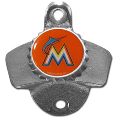 FLORIDA MARLINS Wall Mount Stationary Bottle Opener MLB