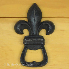 FLEUR DE LIS Cast Iron Figural Bottle Opener/ Paper Weight