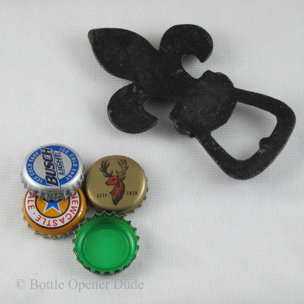 fleur de lis iron figural bottle opener paper weight bottle opener dude. Black Bedroom Furniture Sets. Home Design Ideas