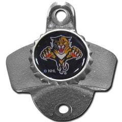 Florida Panthers Wall Mount Bottle Opener Zinc Aluminum Alloy NHL