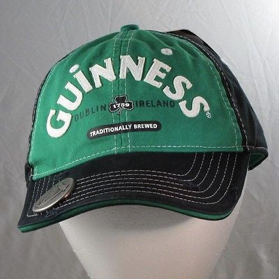 Guinness Bill Cap Hat with Bottle Opener Built In